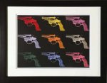 《アートフレーム》Andy Warhol   Gun, c. 1982 (many/rainbow)