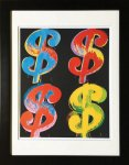 《アートフレーム》Andy Warhol   $4, 1982 (blue, red, orange, yellow)
