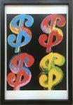 《アートフレーム》Andy Warhol   $4, 1982 (blue, red, orange, yellow)