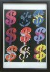 《アートフレーム》Andy Warhol   $9, 1982 (on black)