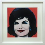 《アートフレーム》Andy Warhol   Jackie, 1964 (on red)