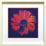 《アートフレーム》Andy Warhol   Daisy, c. 1982(blue & red)