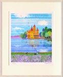 《絵画 壁掛け》はりたつお 城と湖II