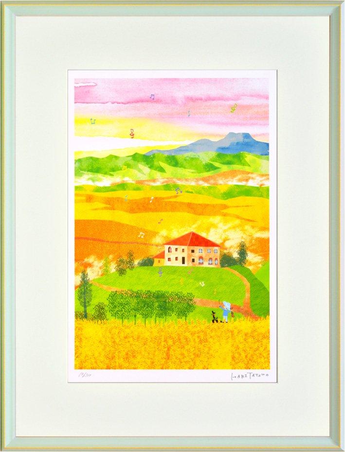 《絵画 壁掛け》はりたつお オルチャ渓谷、収穫の季節