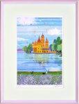 《絵画 壁掛け》はりたつお 城と湖�