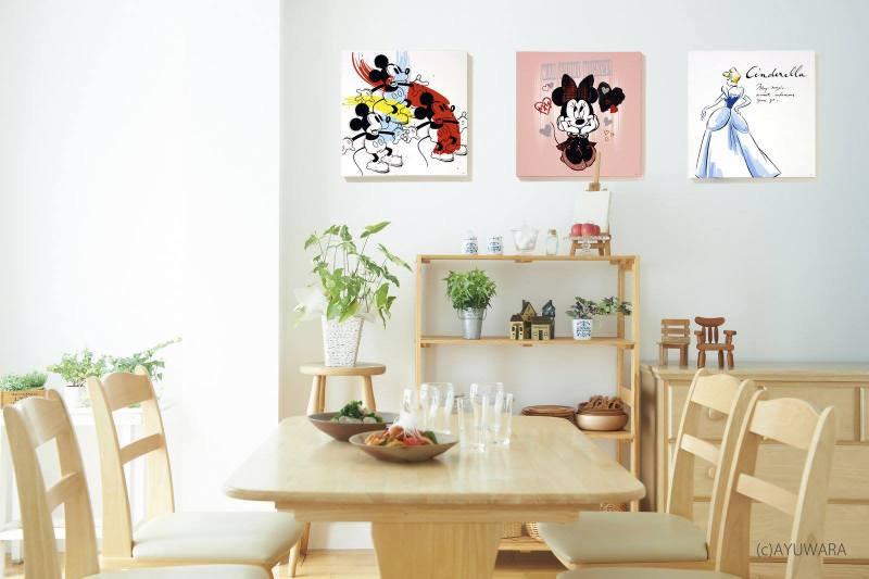 《キャンバスアート》Disney ディズニー キャンバスパネル 50角 スリーミッキー