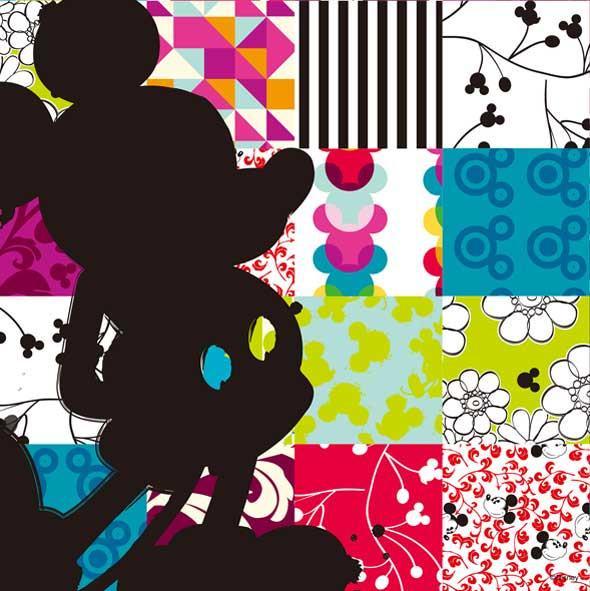 《キャンバスアート》Disney ディズニー キャンバスパネル 50角 パッチワーク1