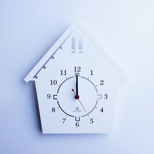 《時計》DOUWA house S CLOCK ホワイト/絵画・壁掛けアートは、リビングや玄関におすすめのインテリア。かわいい壁飾りはお部屋を癒やしてくれそう。プレゼントにも。