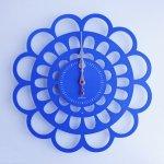 《時計》BOTAN CLOCK 青色/絵画・壁掛けアートは、リビングや玄関におすすめのインテリア。かわいい壁飾りはお部屋を癒やしてくれそう。プレゼントにも。