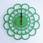 《時計》BOTAN CLOCK 緑色/絵画・壁掛けアートは、リビングや玄関におすすめのインテリア。かわいい壁飾りはお部屋を癒やしてくれそう。プレゼントにも。