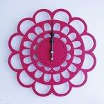 《時計》BOTAN CLOCK ピンク色/絵画・壁掛けアートは、リビングや玄関におすすめのインテリア。かわいい壁飾りはお部屋を癒やしてくれそう。プレゼントにも。