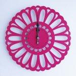 《時計》Marguerite CLOCK ピンク色/絵画・壁掛けアートは、リビングや玄関におすすめのインテリア。かわいい壁飾りはお部屋を癒やしてくれそう。プレゼントにも。
