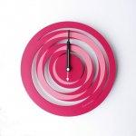 《時計》spiral CLOCK ピンク色/絵画・壁掛けアートは、リビングや玄関におすすめのインテリア。かわいい壁飾りはお部屋を癒やしてくれそう。プレゼントにも。