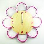 《時計》FLOWER CLOCK ピンク/絵画・壁掛けアートは、リビングや玄関におすすめのインテリア。かわいい壁飾りはお部屋を癒やしてくれそう。プレゼントにも。