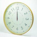 《時計》LARGE CLOCK -電波時計- 白色/絵画・壁掛けアートは、リビングや玄関におすすめのインテリア。かわいい壁飾りはお部屋を癒やしてくれそう。プレゼントにも。