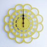 《時計》BOTAN CLOCK 黄色/絵画・壁掛けアートは、リビングや玄関におすすめのインテリア。かわいい壁飾りはお部屋を癒やしてくれそう。プレゼントにも。