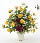 《アートフラワー 造花》パレットローズ〔テーブルタイプ〕
