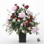 《アートフラワー 造花》スエーデンローズ〔テーブルタイプ〕