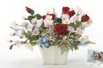 《アートフラワー 造花》フレックスローズ〔テーブルタイプ〕