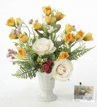 《アートフラワー 造花》ハミルトンローズ〔ミニタイプ〕