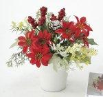 《アートフラワー 造花》ポインセチア〔ミニタイプ〕