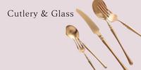 ガラス食器、カトラリー