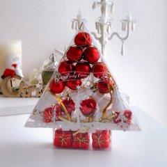 【40%OFF】クリスマス パーティー オーナメント アソート24個セット レッド