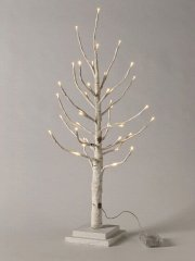 【10%OFF】クリスマス LEDブランチツリー スリム ホワイト Sサイズ