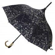 晴雨兼用パゴダ傘 ブラック エンブロイダリー