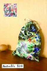 NathalieLete Satin drawstring pouch (ナタリーレテサテンポーチ巾着)