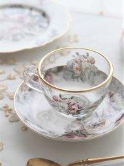 プチローズブーケガラスカップ&ソーサー