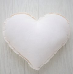 Numero 74 Heart Cushions Pastel S (ヌメロ ハートクッション パステル) Natural