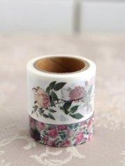 ルドゥーテローズ マスキングテープ バラ図譜&チンツ