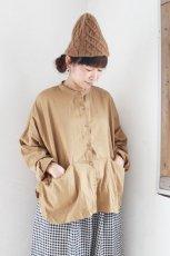 ST-046 ノーカラー切替ポケットシャツ(Veritecoeur)