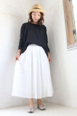 60s COTTON CAMBRIC GATHERED SKIRT(soil)