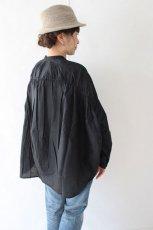 stand collar gathered shirt(mizuiro-ind)