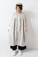 DOUBLE BREASTED 3/4 SLEEVE SMOCK DRESS(ARMEN)