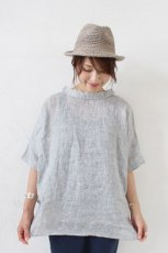 Linen Collered 2way Blouse(HEAVENLY)<img class='new_mark_img2' src='https://img.shop-pro.jp/img/new/icons8.gif' style='border:none;display:inline;margin:0px;padding:0px;width:auto;' />