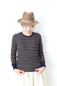 waffle knit po(mao made)
