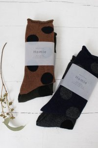 Wool Big Dot Socks(Homie)<img class='new_mark_img2' src='https://img.shop-pro.jp/img/new/icons56.gif' style='border:none;display:inline;margin:0px;padding:0px;width:auto;' />
