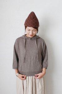 2/32Nm Mur Mur コットン×カシミヤ 7G.12G / 天竺・片畦 knit parka(TANG)