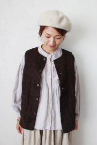 Linen Twill Vest(HEAVENLY)