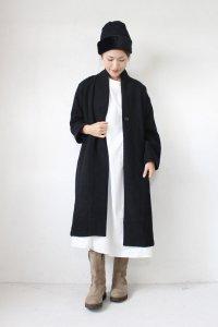 Wool Mix No Collar COAT(HEAVENLY)