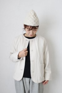 Fake Wool No Collar Jacket(HEAVENLY)