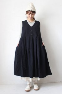 Cotton Linen 2Way Jumper Skirt(HEAVENLY)<img class='new_mark_img2' src='https://img.shop-pro.jp/img/new/icons8.gif' style='border:none;display:inline;margin:0px;padding:0px;width:auto;' />