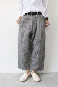 Linen Pencil Stripe サルエルパンツ(Vlas Blomme)