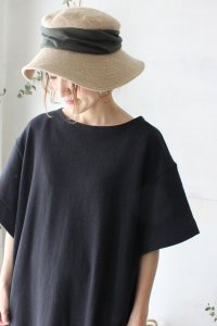 MJT-015W jute drape hat wide(mature ha.)