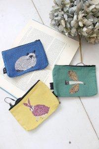 mini flat pouch*animal(松尾ミユキ)