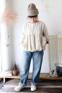 SELVEDGE DENIM USED ANKLE CUT(chimala)