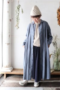 Heavy Linen Long Shirts Onepiece(HEAVENLY)<img class='new_mark_img2' src='https://img.shop-pro.jp/img/new/icons8.gif' style='border:none;display:inline;margin:0px;padding:0px;width:auto;' />